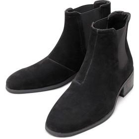 [グラベラ] チェルシーブーツ サイドゴアブーツ ヒールブーツ メンズ カジュアル ブーツ 靴 シューズ スエード スウェード 大人 シンプル