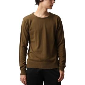 [REPIDO (リピード)] セーター Vネック ニット メンズ ニットセーター カシミヤ 無地 アクリル 長袖 カーキ(クルーネック) XLサイズ