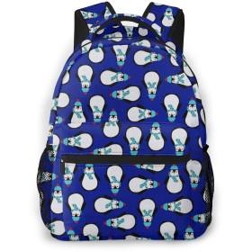 バックパック かわいいペンギン Pcリュック ビジネスリュック バッグ 防水バックパック 多機能 通学 出張 旅行用デイパック