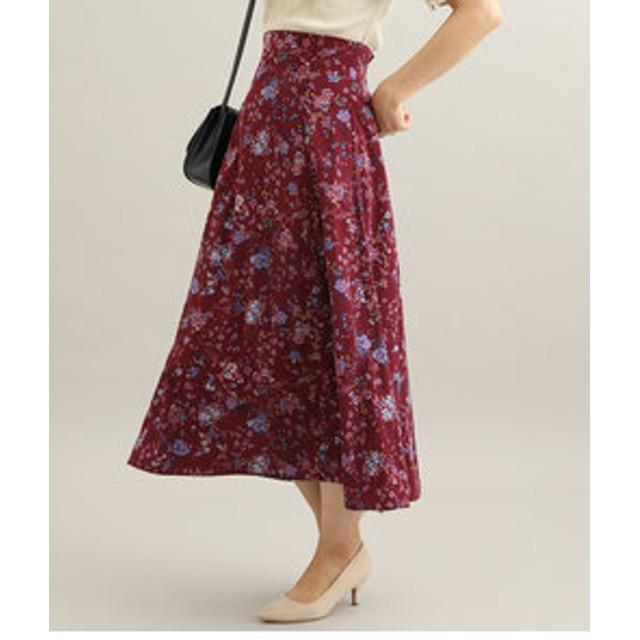 【ViS:スカート】フラワーマキシナロースカート