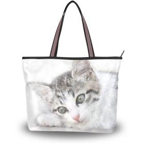 トートバッグ ハンドバッグ 手提げ a4 大容量 レディース 猫柄 動物 肩掛けバッグ 学生 おしゃれ 通勤 通学 かわいい