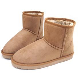 [ysp-jpn] ブーツ ムートン たっぷりボア もこもこ ショート(1Fk) ローヒール SC-12542