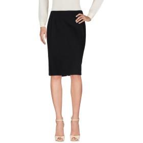 《セール開催中》CLIPS MORE レディース ひざ丈スカート ブラック 48 コットン 98% / ポリウレタン 2%