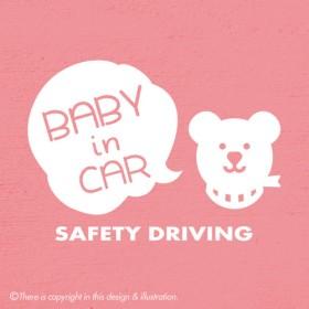 ベビーインカー/くま-FU001 baby in car ★ ステッカー
