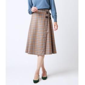 【ニューヨーカー/NEWYORKER】 艶トラキルト/ラップキルトスカート