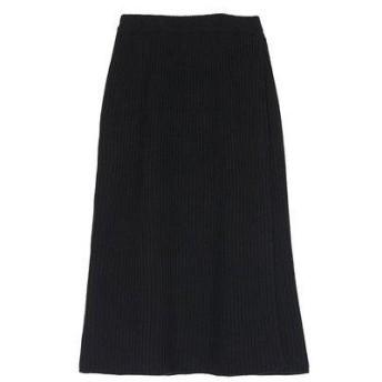 ユアーズ ur's ラップロングニットスカート (ブラック)