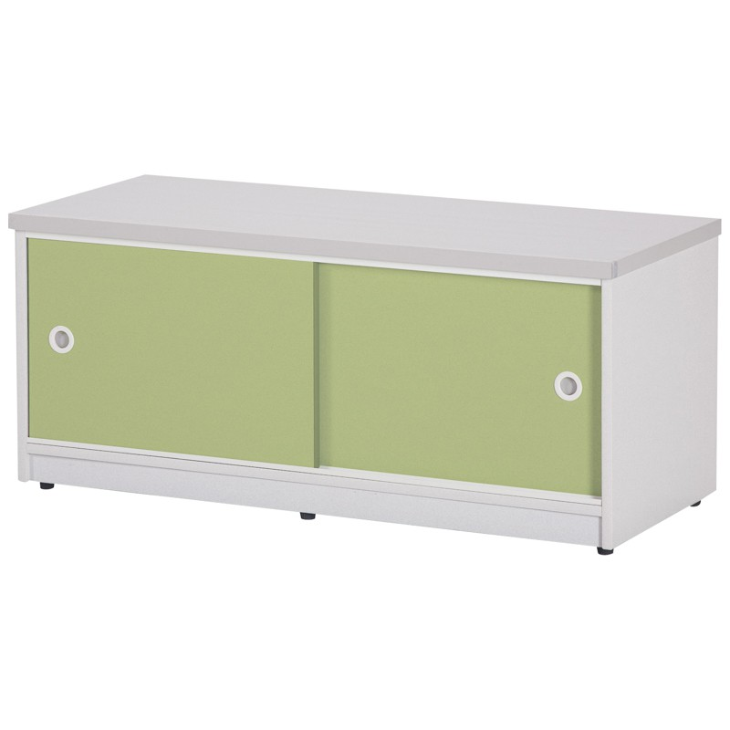 【C989-13】塑鋼坐鞋櫃(SH-21)(綠門/白色)