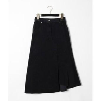 【GRACE CONTINENTAL:スカート】イレギュラーコーデュロイスカート