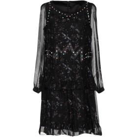 《セール開催中》FRANKIE MORELLO レディース ミニワンピース&ドレス ブラック 38 シルク 100% / ポリウレタン