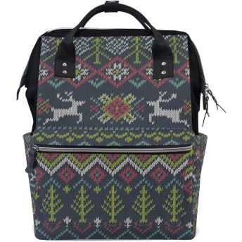 おむつバッグアートクリスマス鹿おむつ バッグ バックパック ママバッグ カジュアル 軽量 大容量 トラベル マミー用