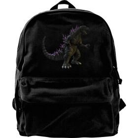 Godzilla Tung Baragon ゴジラ モンスター リュックサック メンズ リュック バックパック アウトドア スクールリュック 帆布リュック デイパック メンズリュック カジュアル 人気 新型 黒 大学生 高校生 中学校 男女兼用