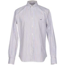 《セール開催中》BROOKSFIELD メンズ シャツ ホワイト 40 コットン 100%