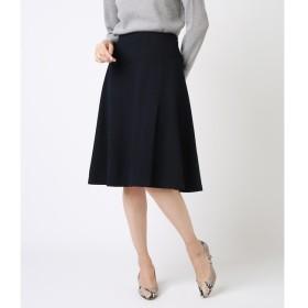 【ニューヨーカー/NEWYORKER】 圧縮ウールジャージー ラップデザイン風フレアスカート