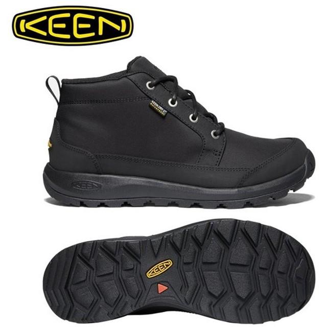 キーン KEEN  ブーツ メンズ グリーザー チャッカ ナイロン 防水ブーツ 1021568 BK/BK