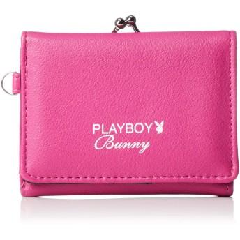 [プレイボーイ] 財布 レディース 三つ折り がま口 メッシュポケット ピンク