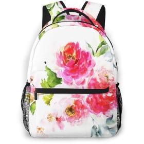 リュック バック 牡丹花束花, リュックサック ビジネスリュック メンズ レディース カジュアル 男女兼用大容量 通学 旅行 鞄 カバン