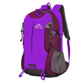 JUNNA ハイキングバックパック メンズ・レディース アウトドアライディングバックパックキャンプ観光戦術バックパック外出アウトドア用品 旅行 大容量 軽量防水 キャンプ アウトドアバッグ (Color : Purple)