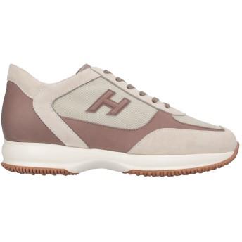 《セール開催中》HOGAN メンズ スニーカー&テニスシューズ(ローカット) ベージュ 8 紡績繊維 / 革