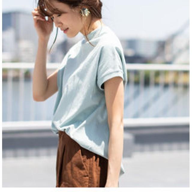 【coen:トップス】【WEB限定カラーに新色ブラウン登場】USAコットンハイネックTシャツ