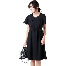 NEWYORKER(ニューヨーカー) Summer Black Dress/レースブロッキングドレス(キャミソールインナー付き) 黒 11号 514551810511
