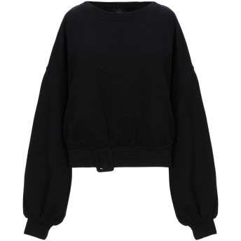 《セール開催中》ONLY レディース スウェットシャツ ブラック XS コットン 55% / ポリエステル 45%