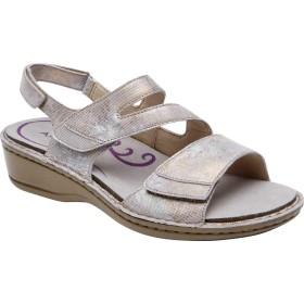 [アラヴォン] シューズ サンダル Cambridge Strappy Slingback Sandal Silver Flo レディース [並行輸入品]