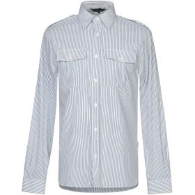 《セール開催中》AQUASCUTUM メンズ シャツ ホワイト 56 コットン 72% / ナイロン 25% / ポリウレタン 3%