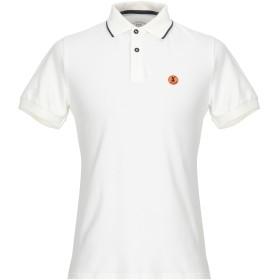 《セール開催中》SAVE THE DUCK メンズ ポロシャツ アイボリー M コットン 97% / ポリウレタン 3%