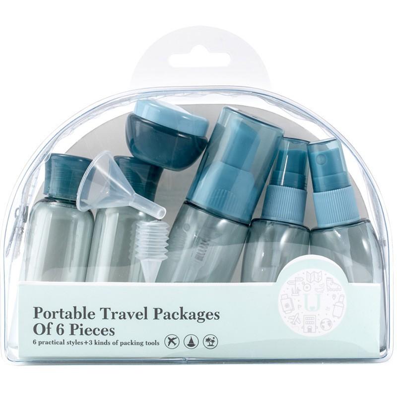 旅行分裝瓶套裝便攜洗漱包男士女洗發水沐浴露旅行裝空瓶旅游用品