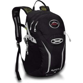 JUNNA ハイキングバックパック メンズ・レディース アウトドア用品ハイキング野生防水透湿バックパックスポーツウォーターバッグライディングバッグ 軽量防水 キャンプ アウトドアバッグ (Color : Black)