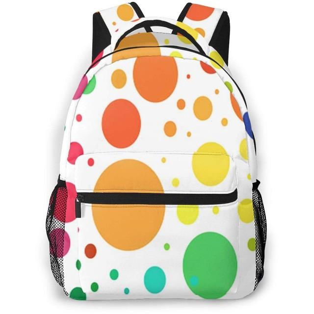 リュック バック ドットが大きい, リュックサック ビジネスリュック メンズ レディース カジュアル 男女兼用大容量 通学 旅行 鞄 カバン