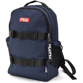 (フィラ) FILA ブランド スケーター デザイン ロゴ リュック リュックサック ネイビー