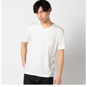 【SHIPS:トップス】SC: SHIPS(シップス) オーガニックコットン×ボタニカルダイ Vネック Tシャツ