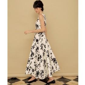 【セルフォード/CELFORD】 フラワープリント刺繍ドレス