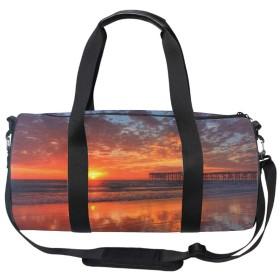 パシフィックビーチの夕日コスメバッグ 化粧ポーチ メイクバッグ ギフトプレゼント用 携帯可能