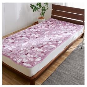 あったか起毛フランネルの敷パッド(北欧アニマル柄) 敷きパッド・ベッドパッド