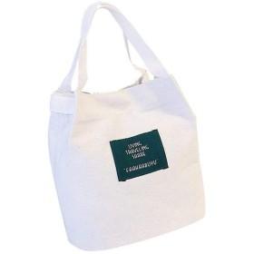 婦人用バッグキャンバスバッグスモールバッグ多機能ショルダースクエアバッグ大容量のハンドバッグ 多機能$ D、白