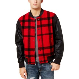 Guess OUTERWEAR メンズ US サイズ: Large カラー: レッド
