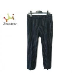 セオリーリュクス theory luxe パンツ サイズ38 M レディース 黒×白 ストライプ  値下げ 20200112