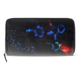 長財布 レディース 大容量 革 ラウンドファスナー PUレザー カード12枚収納 プレゼント対応化学式ブルー