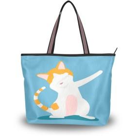 トートバッグ ハンドバッグ 手提げ a4 大容量 レディース ダンス 猫柄 動物 肩掛けバッグ 学生 おしゃれ 通勤 通学 かわいい