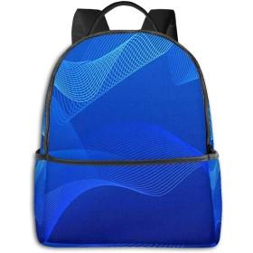 リュック リュックサック PCバック ビジネスリュック 大容量 ラップトップ バックパック 男女兼用 アウトドア旅行防水 青い波長のグラフィックデザイン