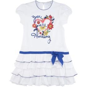 《期間限定セール開催中!》ARTIGLI Girl ガールズ 3-8 歳 ワンピース&ドレス ホワイト 3 コットン 92% / ポリウレタン 8%