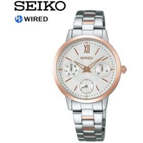 【SEIKO WIRED】 セイコー ワイアード PAIR STYLE ペアスタイル クオーツ腕時計 レディース 5気圧防水 スワロフスキー クリスタル 華奢 エレガント 上品 AGET406