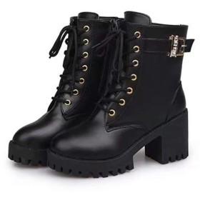 [AJGLJIYER LTD] ショートブーツ ショートブーツ デザインブーツ 美脚 レディース 23.0cm 上品 ブーツ スムース レザー デザイン ブラック 上品ショートブーツ レディース ブーツ ショートブーツ ブーティ シンプル カジュアル