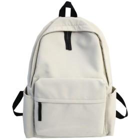 キャビアガール通学ブック、ホワイト、30Cm12Cm40Cmのための高品質ピュアカラー防水ナイロン女性のバックパック女性の旅行バックパック