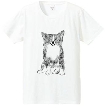 【SALE】秋田犬 虎毛 Tシャツ(ホワイト)