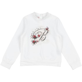《期間限定セール開催中!》MISS BLUMARINE ガールズ 3-8 歳 スウェットシャツ ホワイト 4 コットン 95% / ポリウレタン 5%