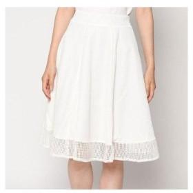 ファインセレクション FINE SELECTION (Rename) 裾レースフレアスカート (アイボリー)