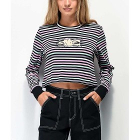 バイサミーライアン BY SAMII RYAN レディース ベアトップ・チューブトップ・クロップド more than friends stripe long sleeve crop t-shirt Assorted